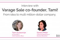 Sitting down with the Co-Founder of Varage Sale, Tami Zuckerman Mercier!